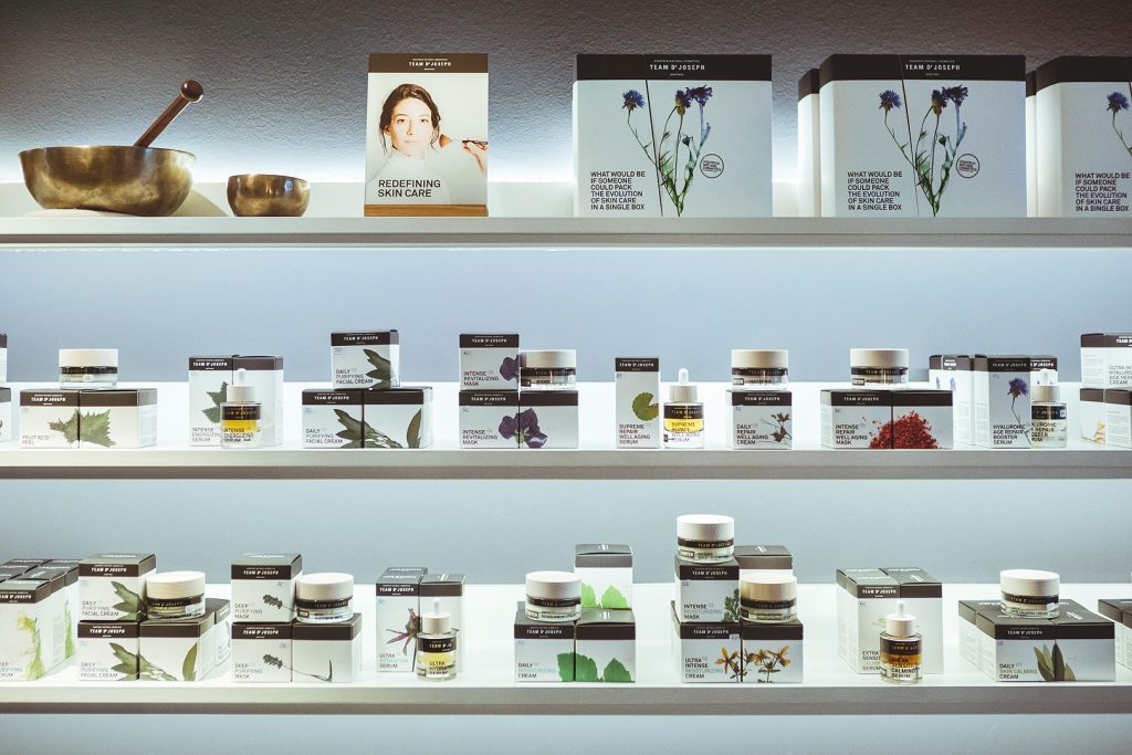 selection of beauty products of the BeautySpa